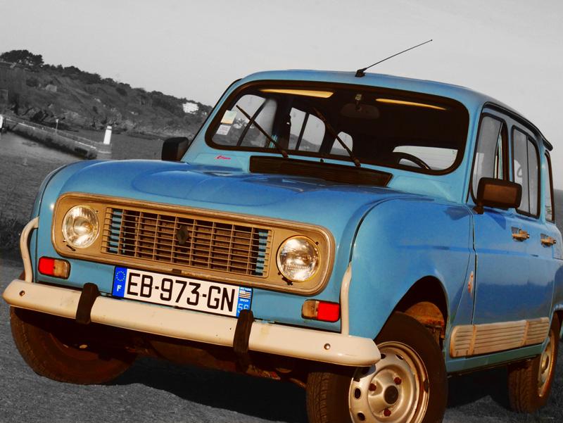 Autos - véhicules - voitures - JVDBI - 4L Bleue