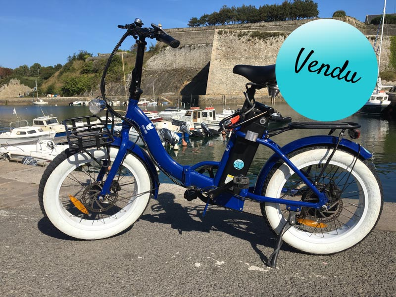 Vélo Miss Little bleu et lanc