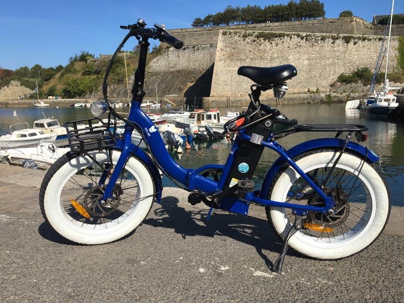 Vélo Miss Little bleu et beige