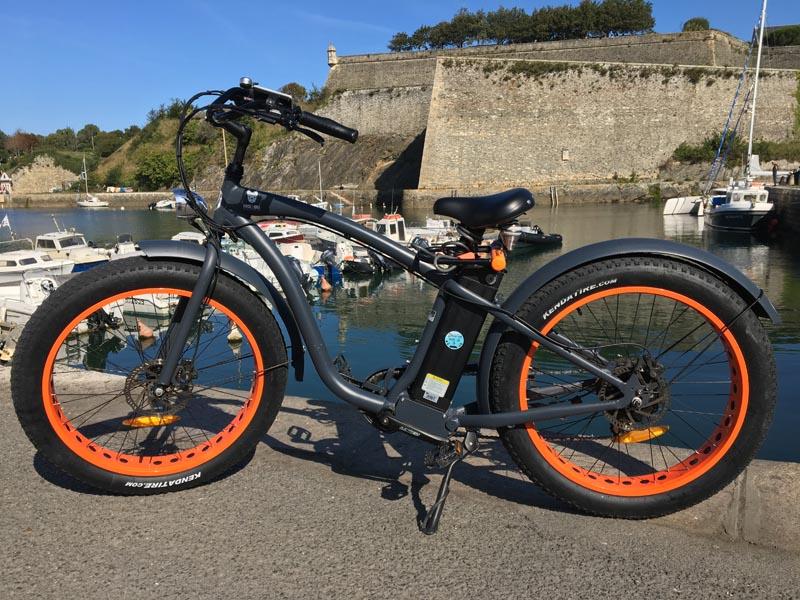 Vélo Mister Fitch noir et orange à vendre