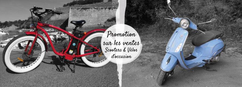 Vente Scooters et vélos d'occasion - promotion - baisse des prix