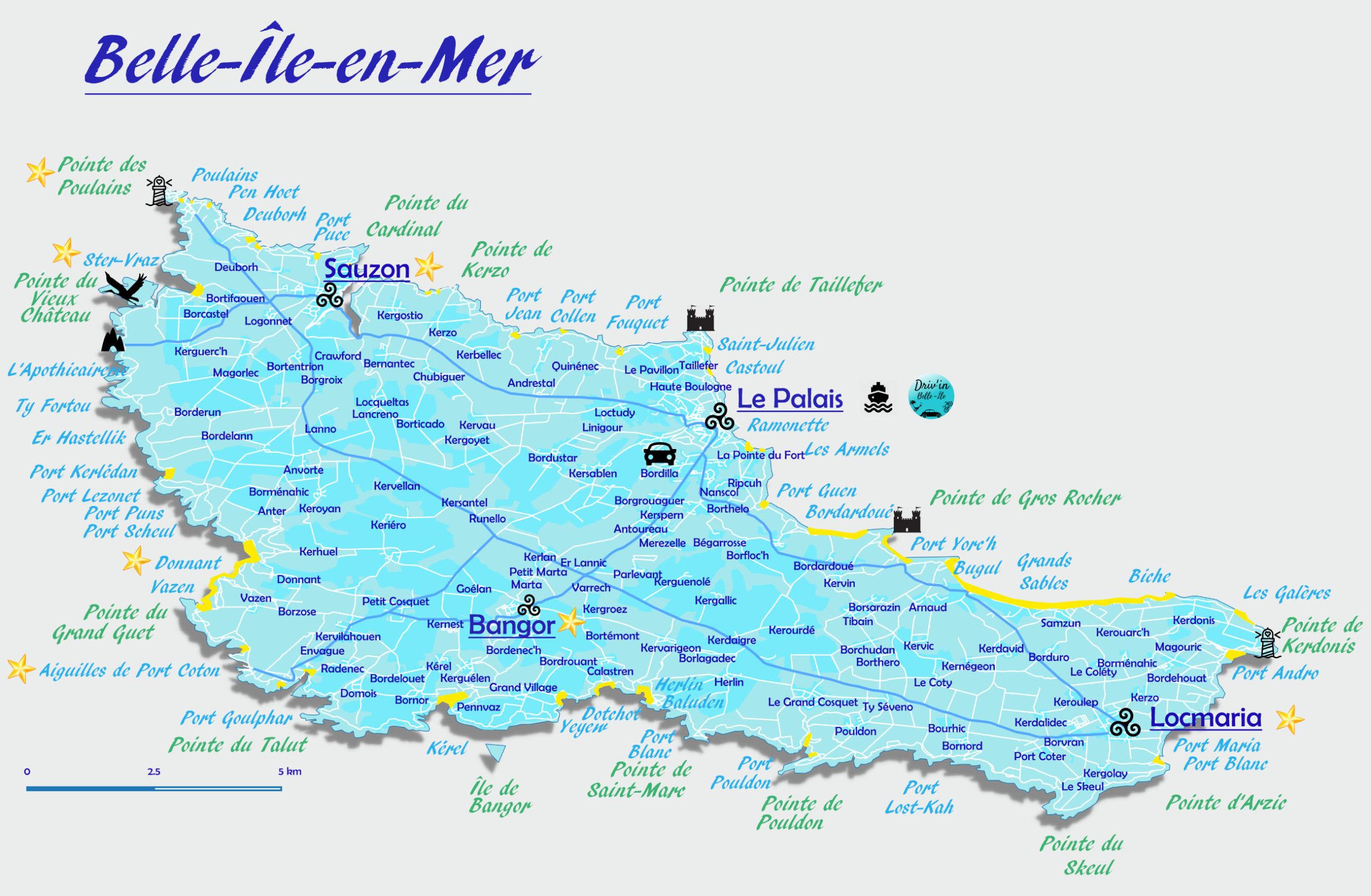 Découvrir Belle-Île - Carte Belle Ile en Mer -