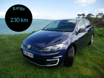 E-Golf - electric car - range 230 km