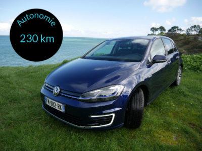 E-Golf - voiture électrique - autonomie 230 km