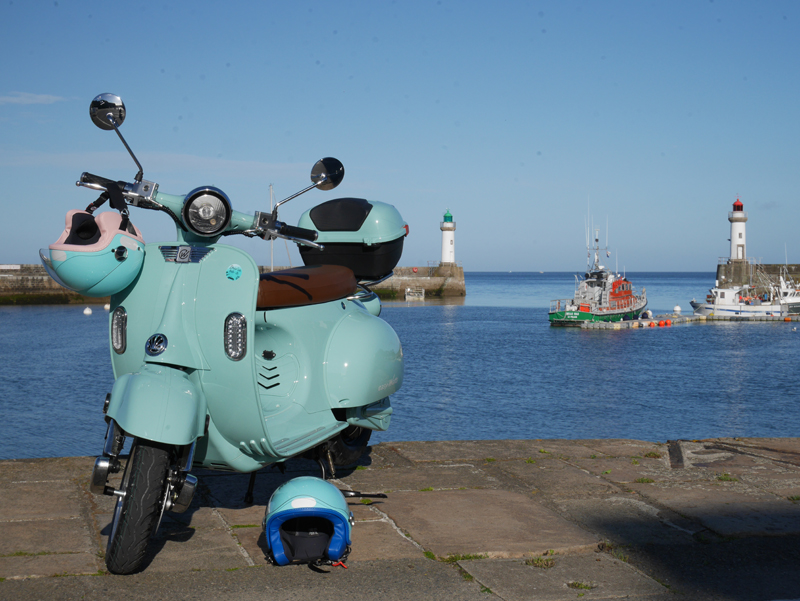E-Retro- Driv'in Belle-Île - bleu scooters