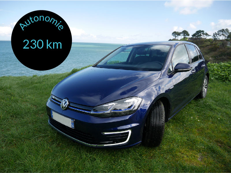 E-Golf voiture électrique Driv'in Belle-Île