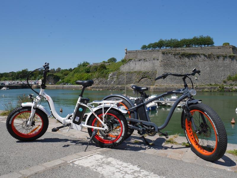 Vélos Electriques Fitch Bike et EasyWatt port de Belle-Île