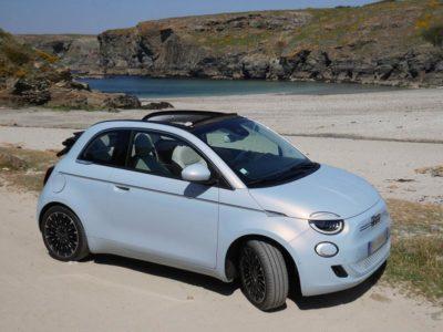 Fiat 500 cc Electrique bleu