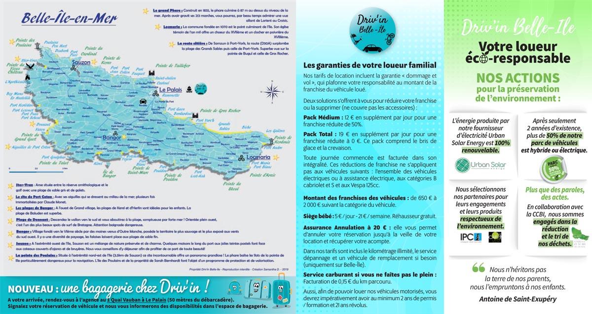 Plaquette de tarifs 2021 Driv'in Belle-Île
