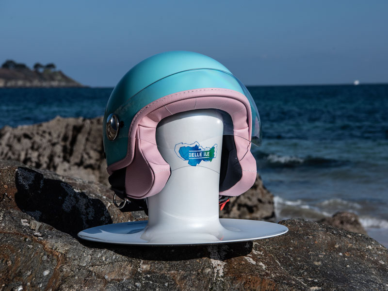 Support Woodjee casque rose