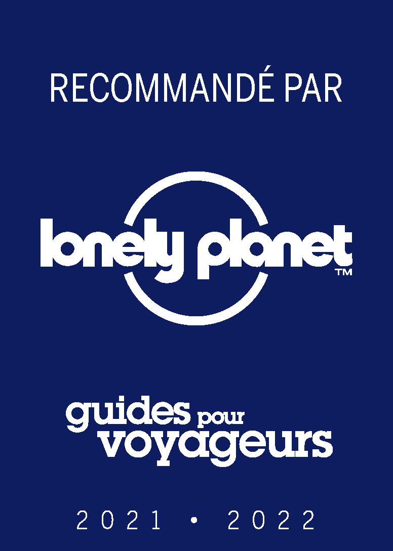Logo recommandé par Lonely Planet 2021-2022